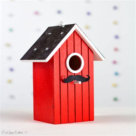 bird house lovebirds gift box red bird nest house decor