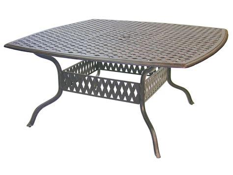 Cast Aluminum Dining Table Darlee Outdoor Living Series 30 Cast Aluminum Antique Bronze 64 Square Dining Table Dl30 W
