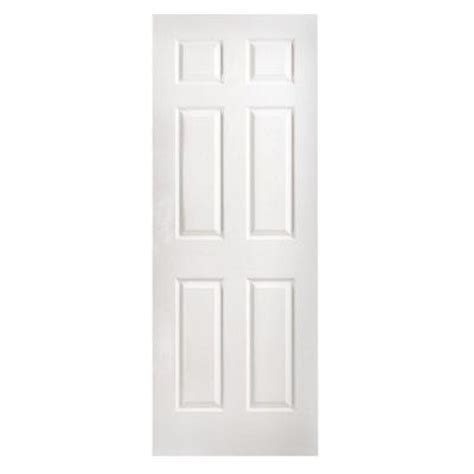 Masonite 30 In X 96 In Textured 6 Panel Hollow Core 96 Interior Doors