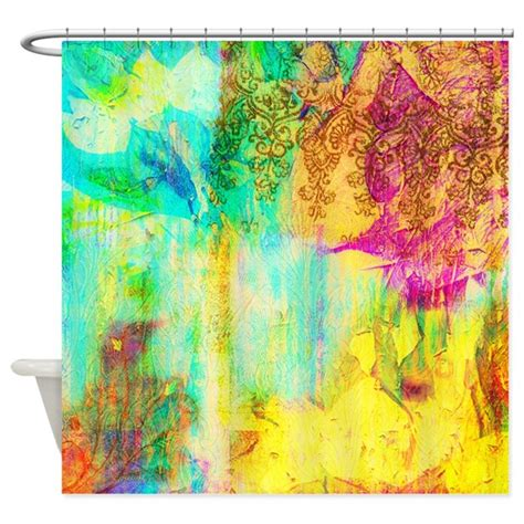 colorful shower curtain colorful shower curtain by clotheshorse