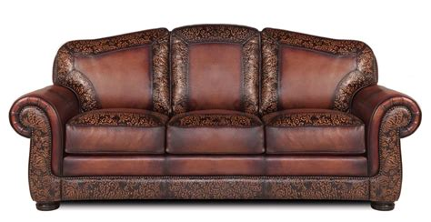 Western Leather Sofa Specialty Burke Leather Sofa Western Sofas And Loveseats Free Shipping