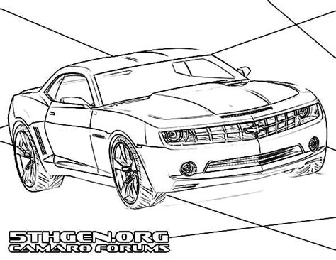 Free Coloring Pages Of Chevrolet Camaro Ss Camaro Coloring Page