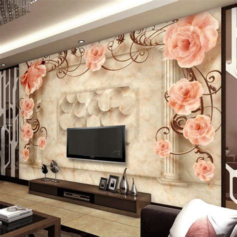 wallpaper dinding ruang tamu 3d murah kertas kontak kustom foto wallpaper 3d dari kertas