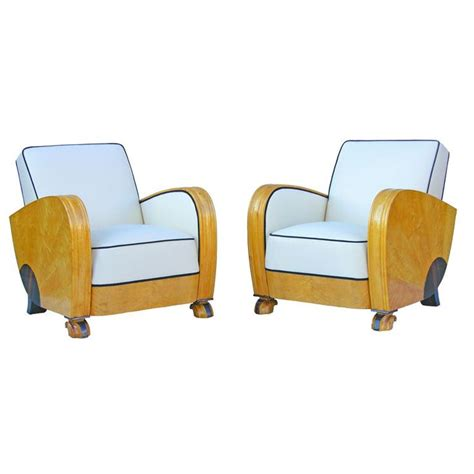 streamline moderne furniture pair of deco armchairs armchairs