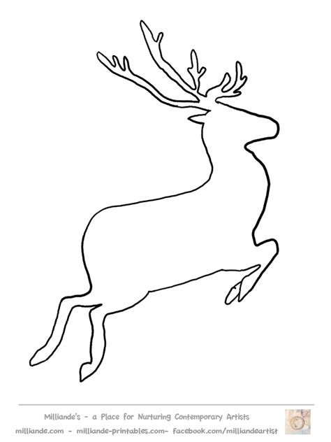 printable reindeer application free reindeer clipart reindeer crafts at www milliande