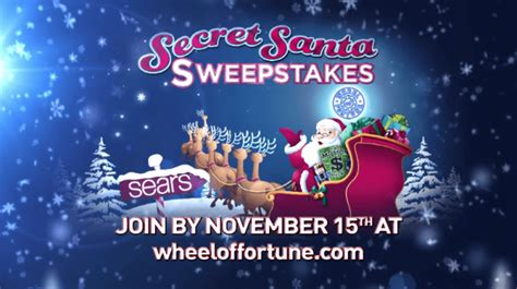 How To Enter Wheel Of Fortune Secret Santa Sweepstakes - best of november 2016 the most popular sweepstakes of the month