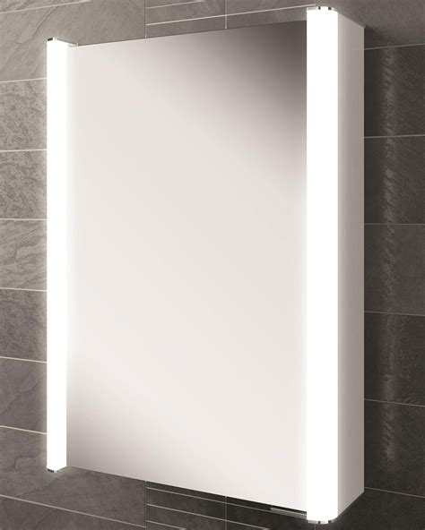 hib austin single door illuminated bathroom mirrored cabinet hib vita 50 single door led illuminated mirror cabinet 500
