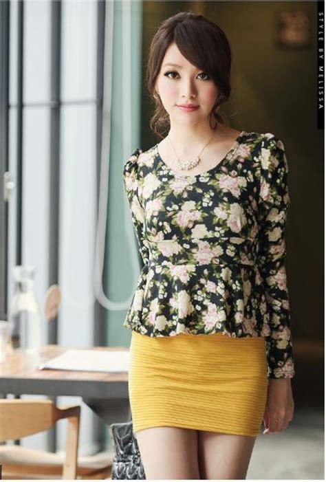 mini dress lengan panjang bunga model terbaru jual murah