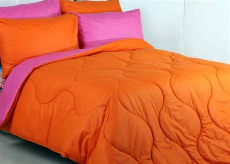 Sprei Vallery Orange Uk 120 detail product seprei dan bedcover polos orange mix pink toko bunda
