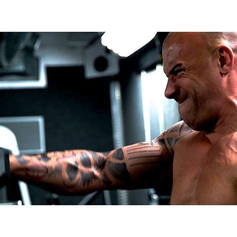 vin diesel tattoos vin diesel shows tattooed physique for the upcoming