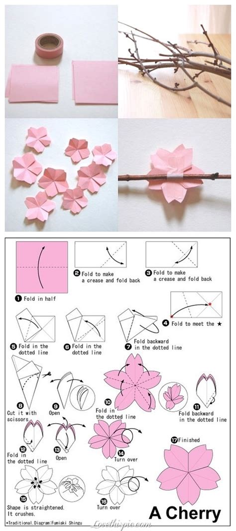 How To Make A Cherry Blossom Tree Out Of Paper - origami pictures photos and images for