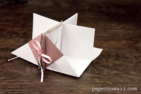 How To Make A Paper Pop Up Book - origami popup book tutorial paper kawaii