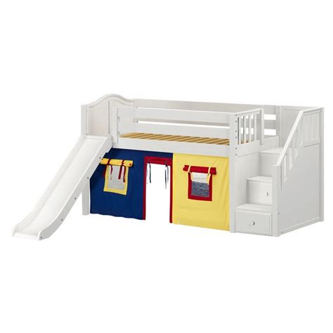 low loft bed with slide maxtrixkids aerie29 wc low loft bed with staircase on