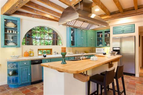 Island Kitchen Cabinets by French Country Mediterranean Style Home In Oakland Ca