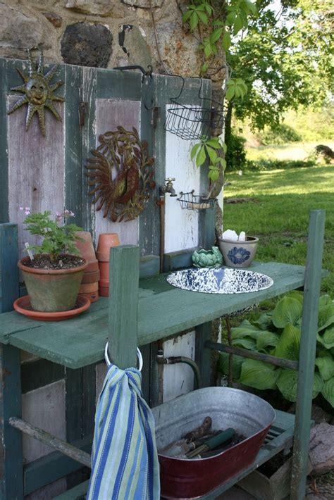 garden potting bench with sink best 20 potting station ideas on pinterest garden table