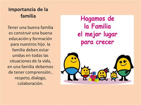 Imagenes Sobre La Importancia De La Familia | la familia
