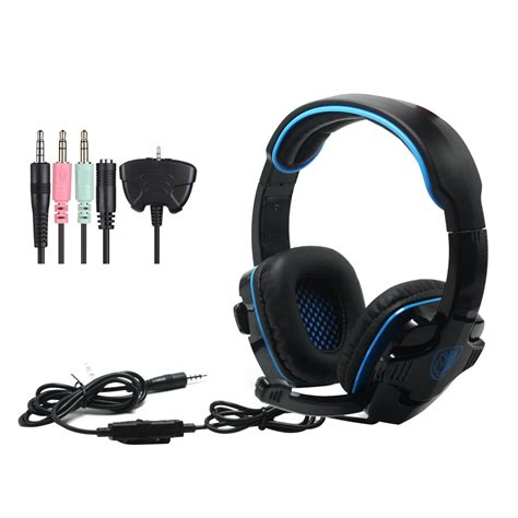 Headset Gaming Sades Sa 708 sades sa 708 gt universal gaming headset with microphone for ps4 pc laptop ebay