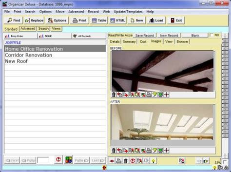 home improvement tracking template excel home