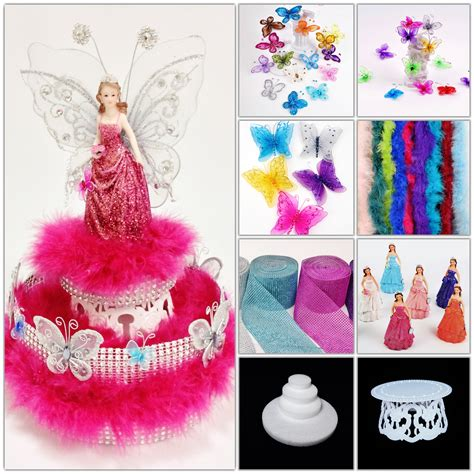 Diy 13 Quot Quinceanera Figurine W Boa And Butterfly How To Make Quinceanera Centerpieces