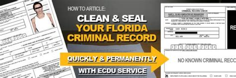 How To Clear Your Criminal Record Seal Florida Criminal Records Ecdu Expunge Florida Records