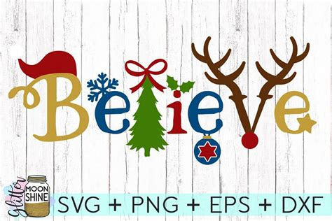 %name business card cutting machine   Believe Christmas SVG DXF PNG EPS Cutti   Design Bundles