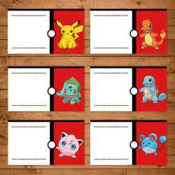 pokemon birthday party printable food tent labels