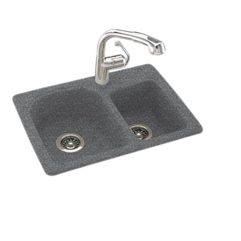 Solid Surface Undermount Sinks by Swan Drop In Undermount Solid Surface 25 In 1 60 40