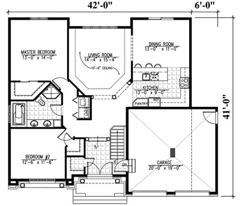 1 level house plans one level home 90142pd 1st floor master suite