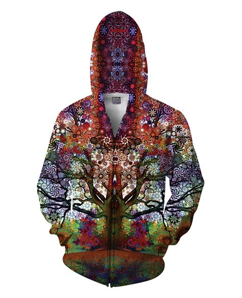 Jacket Hoodies My Trip trip tree zip up hoodie trippy print fashion clothing tops casual 3d sweatshirts coats