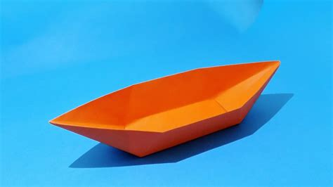 how to make a paper boat that floats origami boat