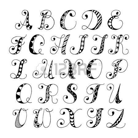doodle sketch font sketch alphabet black and white font letters