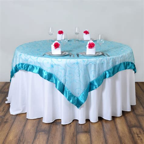 organza table overlays embroidered sheer organza table overlays wedding reception decorations ebay