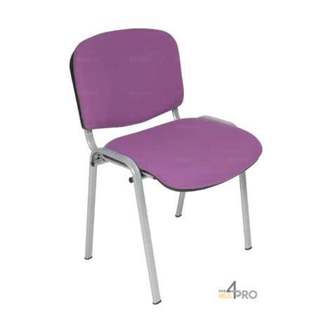 chaise visiteur tissu ds20 sans accoudoir gris alu