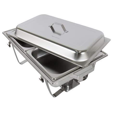 Chafing Dish Set Of 2 8 Quart Stainless Steel Full Size Chafing Dish Buffet Set