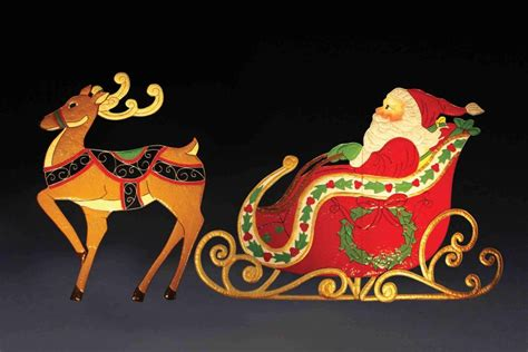 phillips lighted reindeer and sleigh santa and sleigh outdoor decorations ideas photo gallery dma homes 80533