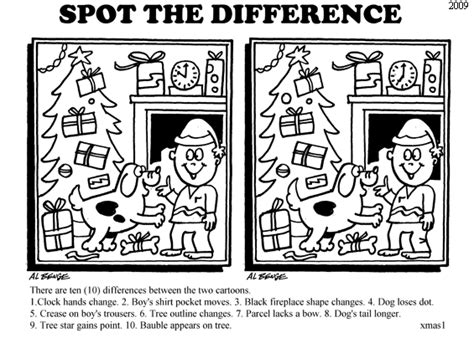 printable christmas spot the difference games auspac media the feature people