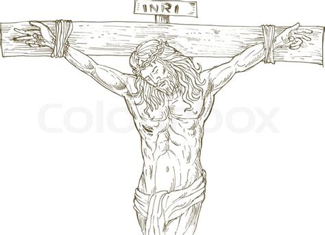 Jesus Christ Cross Drawing Stock Vector Colourbox Jesus On The Cross Drawings