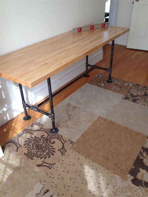 butcher block table top home depot 6 diy pipe table with butcher block pipe from home