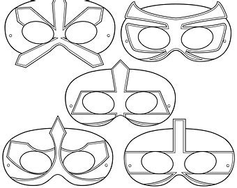 printable ninja mask drawn masks hero mask pencil and in color drawn masks