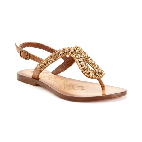 Monkey Luxury Heels by Monkey Pony Pass Flat Sandals In Gold Lyst