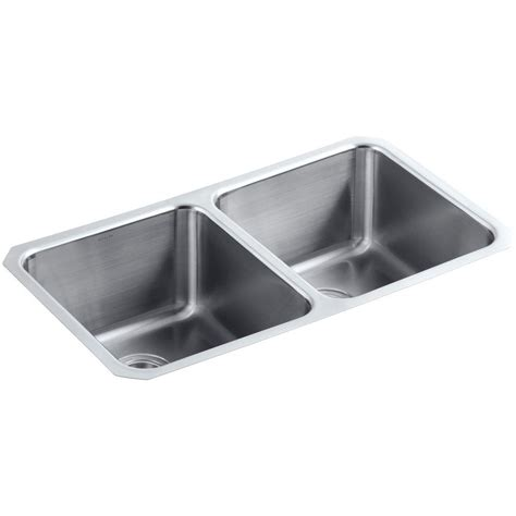 Scratch Resistant Kitchen Sinks Kohler Undertone Preserve Undermount Stainless Steel 32 In Bowl Scratch Resistant