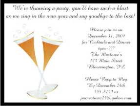 chagne flutes new years invitations