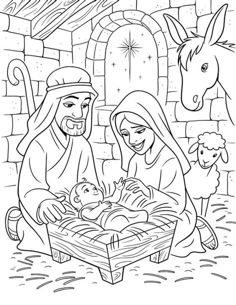 lds printable nativity scene lds nativity coloring pages google search bible crafts