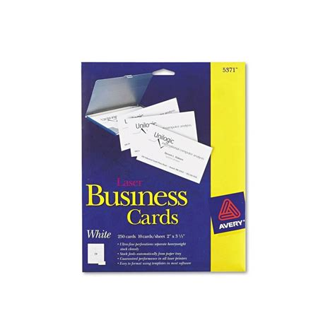 business card template page avery avery 5371 perforated business cards laser white 250