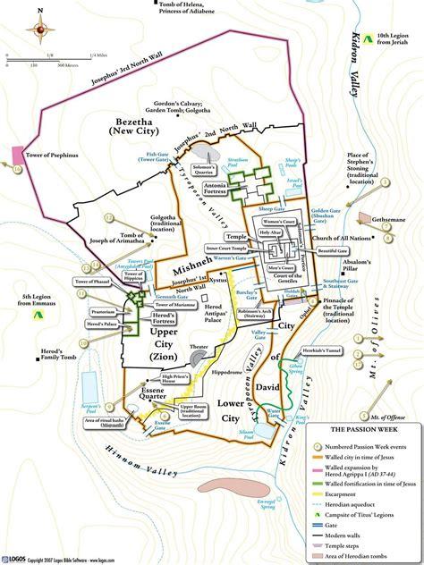 jerusalem map quot crucifixion quot of jesus