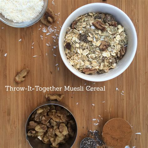 Topfer My Muesli Cereal make your own muesli cereal find your balance with