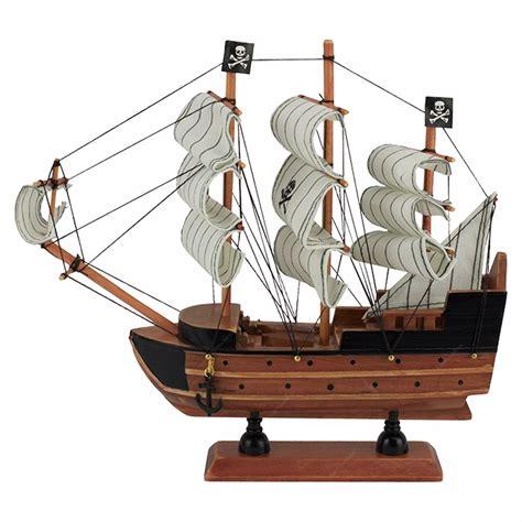 barco pirata miniatura fragata barco pirata caravela em madeira 24cm