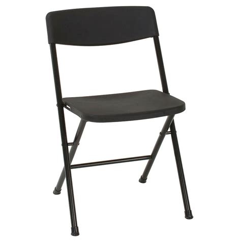 cosco black folding chair set   blke  home depot