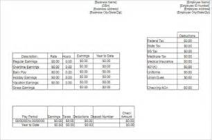 template for pay stubs pay stub templates free premium templates