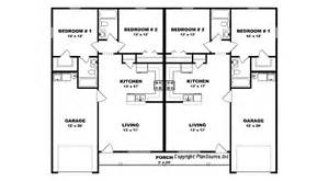 duplex plan with garage j0408 14d plansource inc